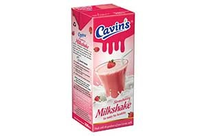 Cavins Strawberry Milkshake 180ML