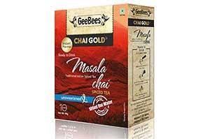 GeeBees Chai Gold Masala Chai Unsweetened 80 GM