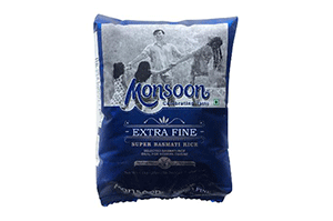 Monsoon Extra Fine Basmati Rice 1 KG