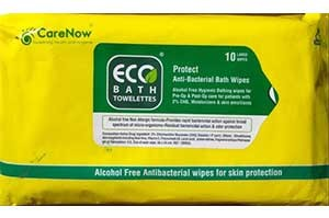 ECO BATH TOWELETTES Antibacterial Bathing Wipes