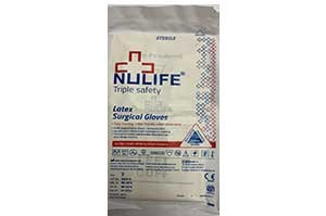 Nulife Triple Safety Latex Surgical Gloves