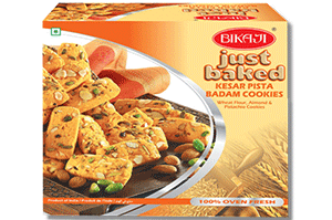 Bikaji Kesar Pista Badam Cookies 360 gm