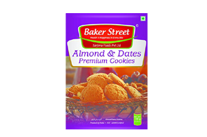 Baker Street Almond & Dates Cookies 150 gm