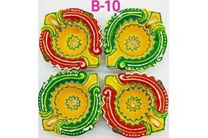 Decorative 4 Diya Set (B-10)