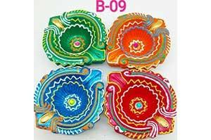 Decorative 4 Diya Set (B-09)