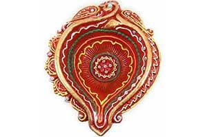 Decorative Big Clay Diya (1)