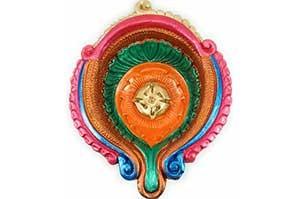 Decorative Big Clay Diya (3)
