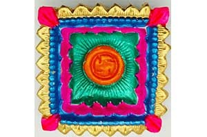 Decorative Big Clay Diya (4)