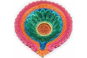 Decorative Big Clay Diya (6)