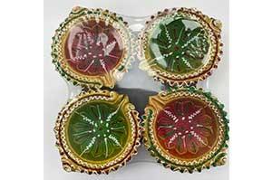 Decorative Clay Diya (1)