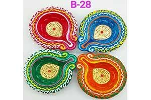 Decorative 4 Diya Set (B-28)