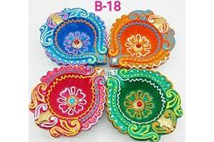 Decorative 4 Diya Set (B-18)