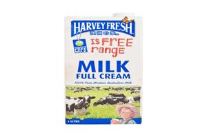 Harvey Fresh Full Cream Milk 1L