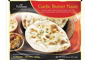 Kohinoor Garlic Butter Naan 400 Gm