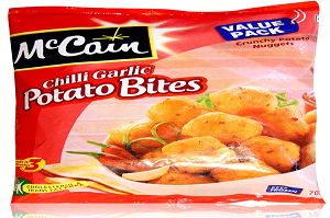 McCain Chilli Garlic Potato Bites 700 Gm