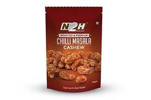 N2H Cashews Roasted (Chilli Masala) 200 gm