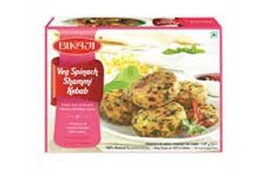 Bikaji Veg Spinach Shammi Kebab 240gm (6pcs)