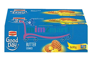Britannia Good Day Butter Cookies Family Pack 8x75 gm