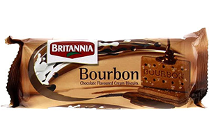 Britannia Bourbon Choco Kreme Biscuits 196 GM