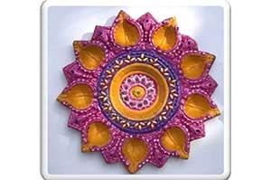 9 Faces Diwali Thali