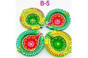 Decorative 4 Diya Set (B-5)