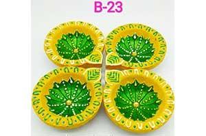 Decorative 4 Diya Set (B-23)