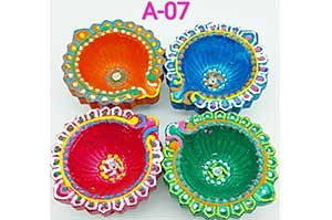 Decorative 4 Diya Set (A-07)