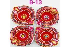 Decorative 4 Diya Set (B-13)
