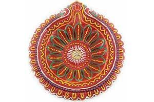 Decorative Big Clay Diya (5)