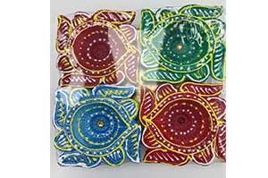 Decorative Clay Diya (2)