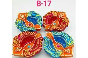 Decorative 4 Diya Set (B-17)