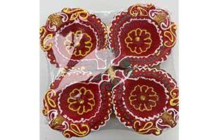 Decorative Clay Diya (3)