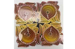 Decorative Clay Diya (5)