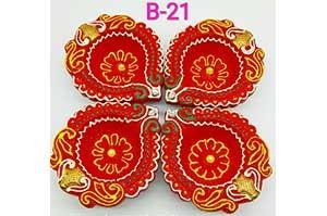 Decorative 4 Diya Set (B-21)