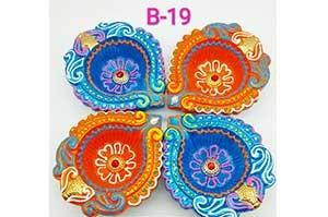 Decorative 4 Diya Set (B-19)