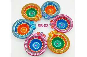 Decorative 6 Diya Set