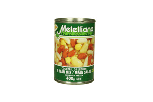 Metelliana 4 Bean Salad In Brine 400GM
