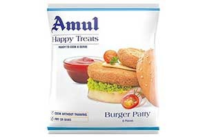 Amul Burger Patty 6 Pieces 360 GM