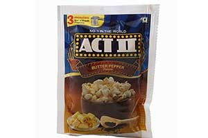 Act II Popcorn 70gm Butter Pepper
